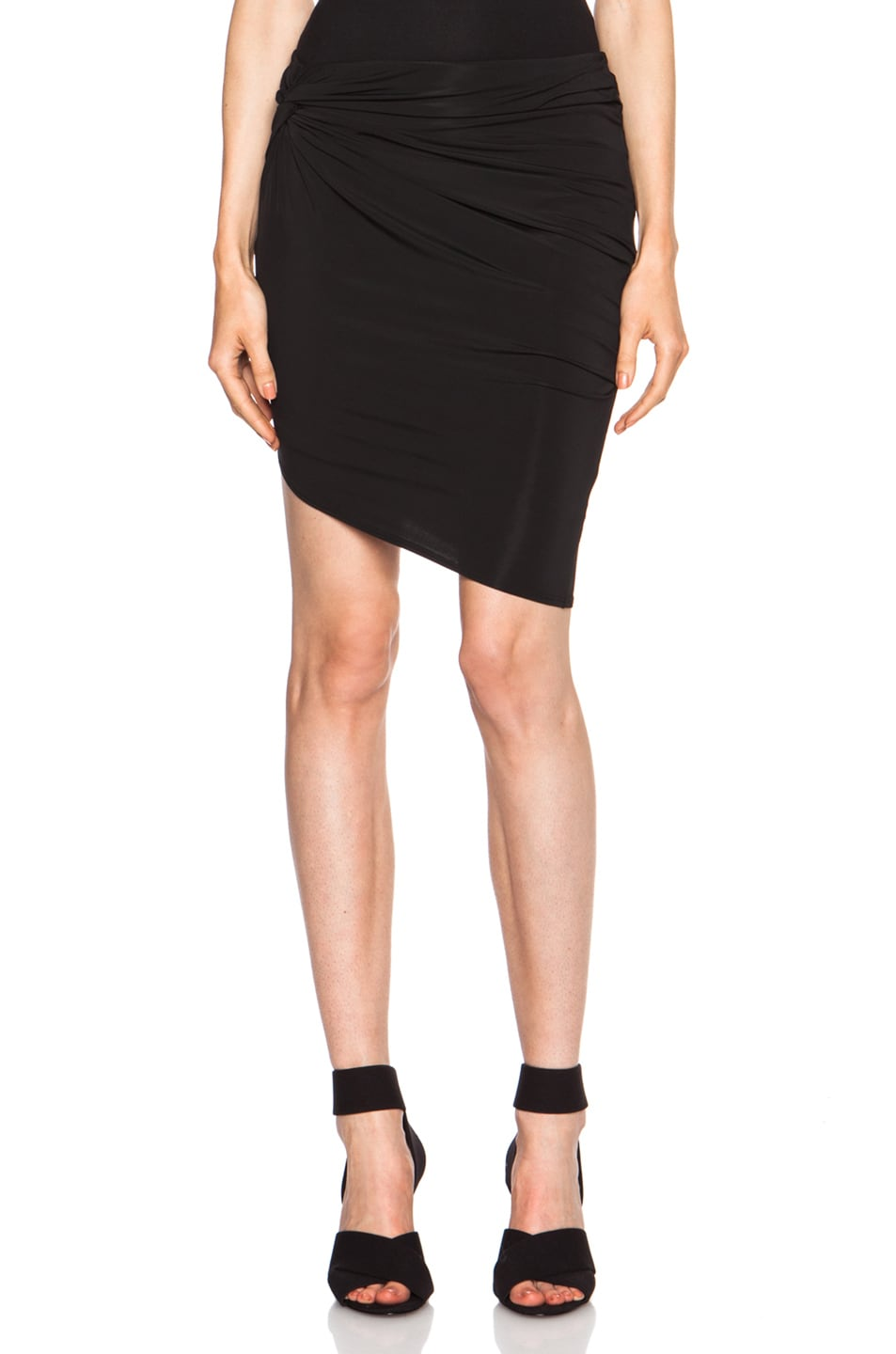 Image 1 of Helmut Lang Faint Viscose-Blend Twist Skirt in Black