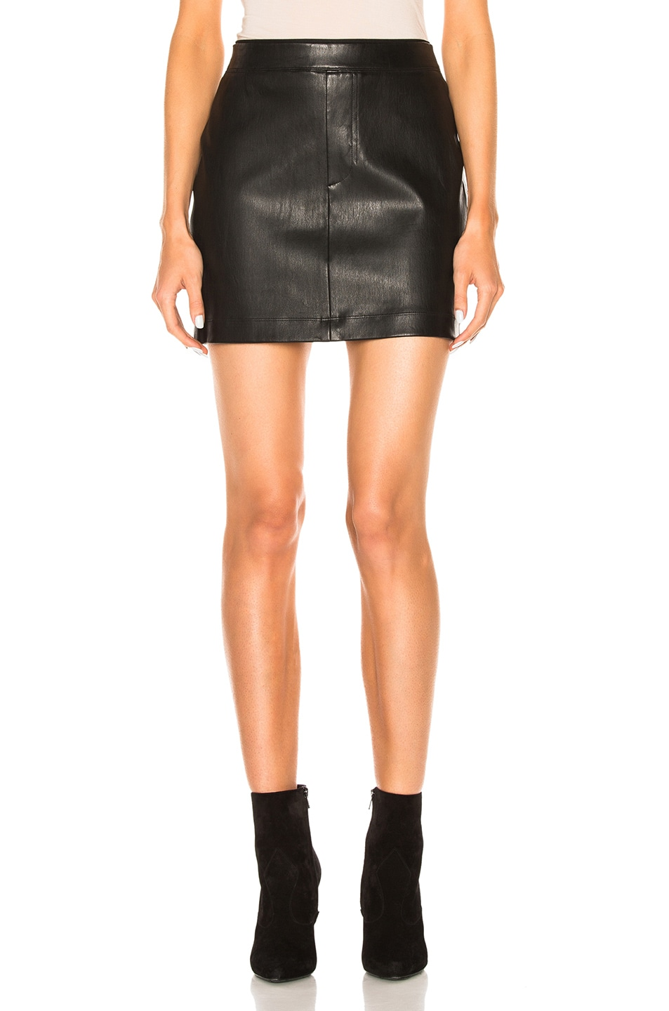 Image 1 of Helmut Lang Leather Skirt in Black