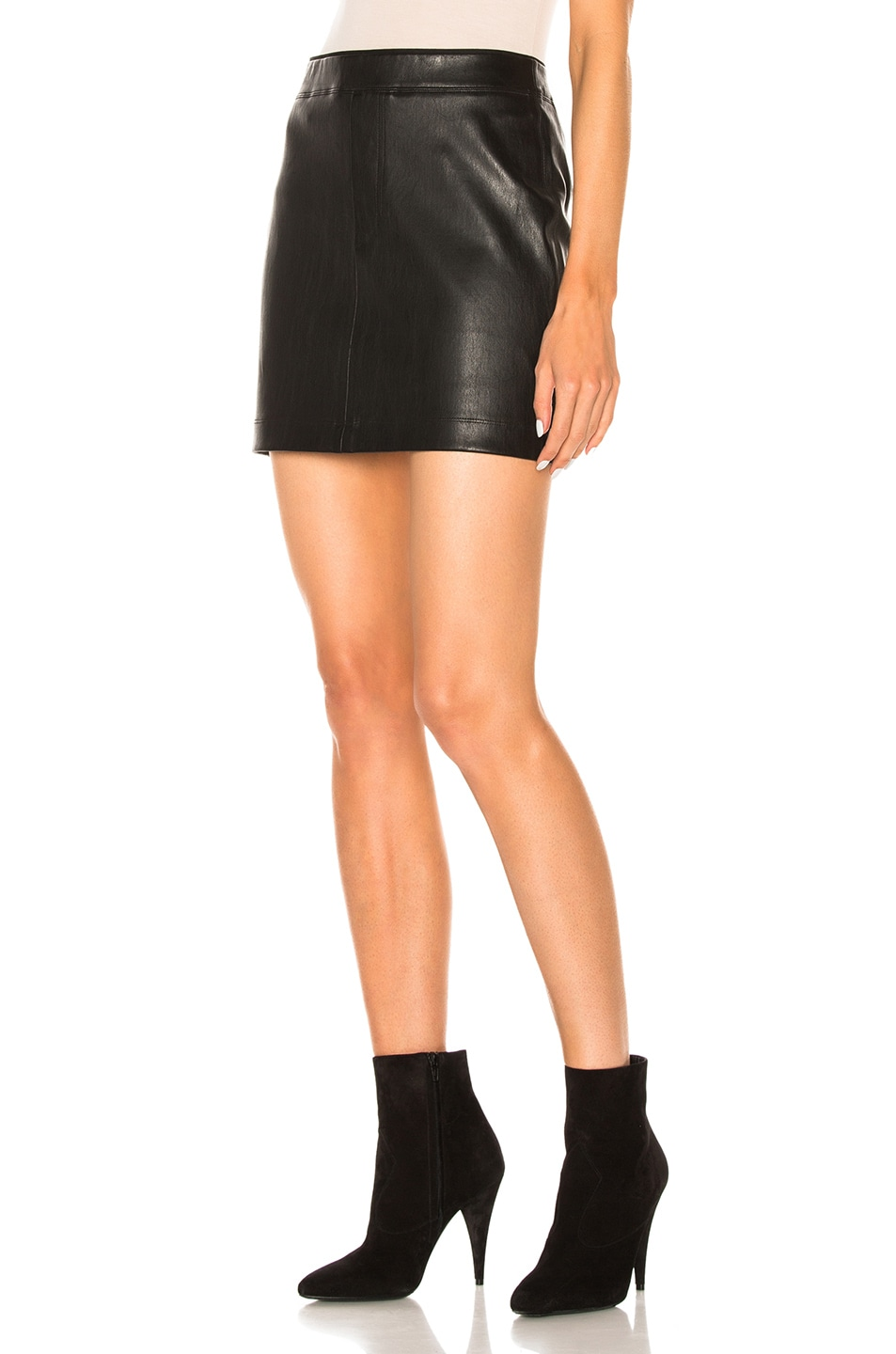 Image 2 of Helmut Lang Leather Skirt in Black
