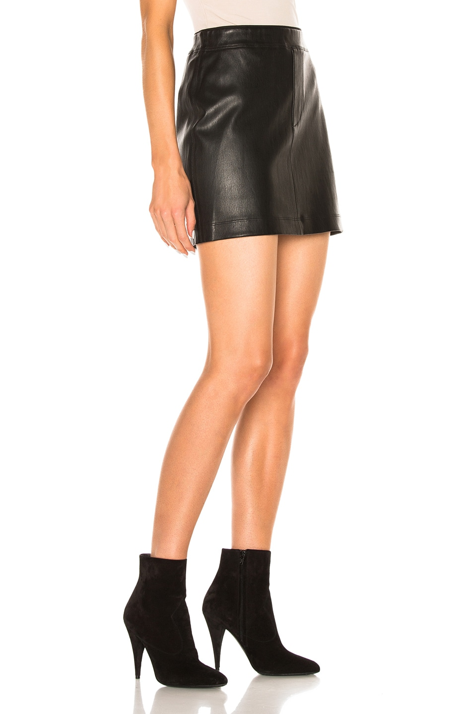 Image 3 of Helmut Lang Leather Skirt in Black