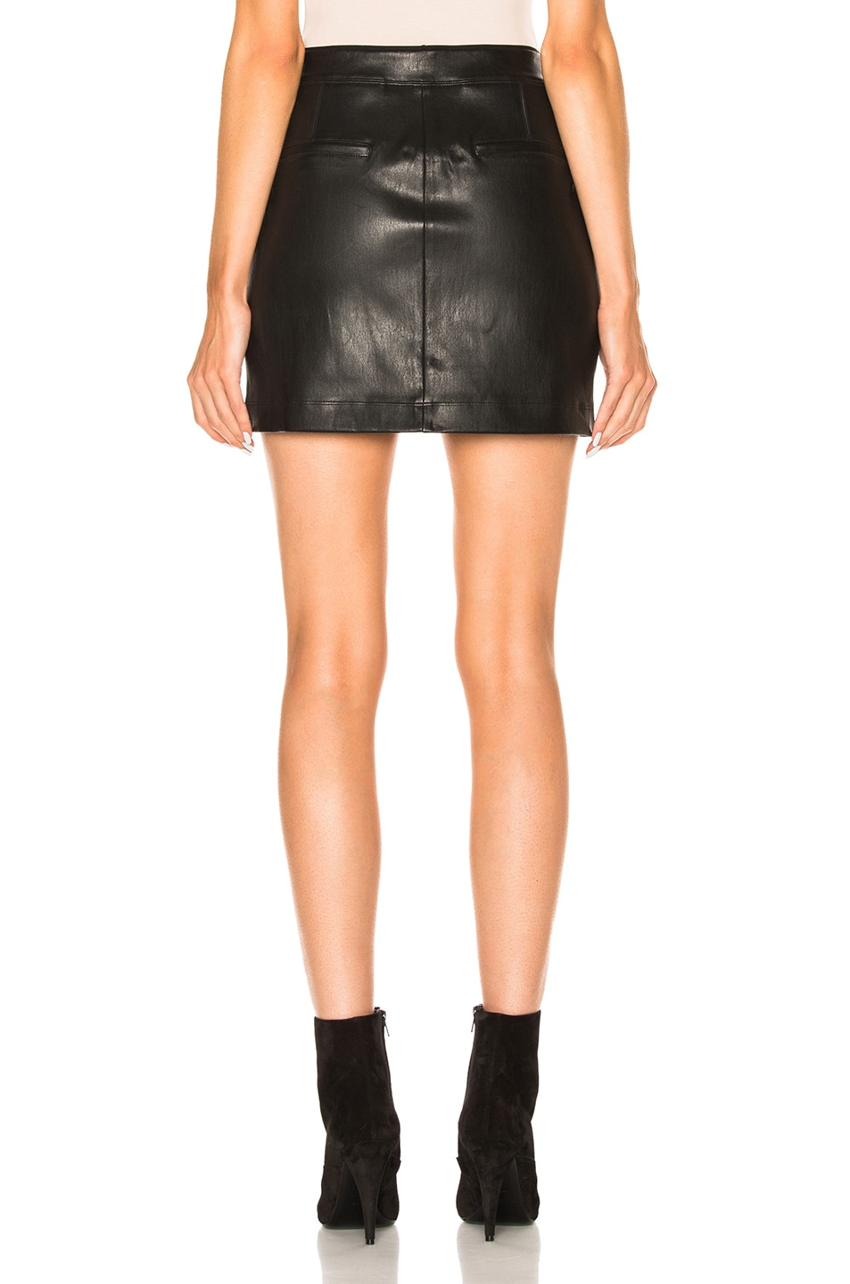 Image 4 of Helmut Lang Leather Skirt in Black