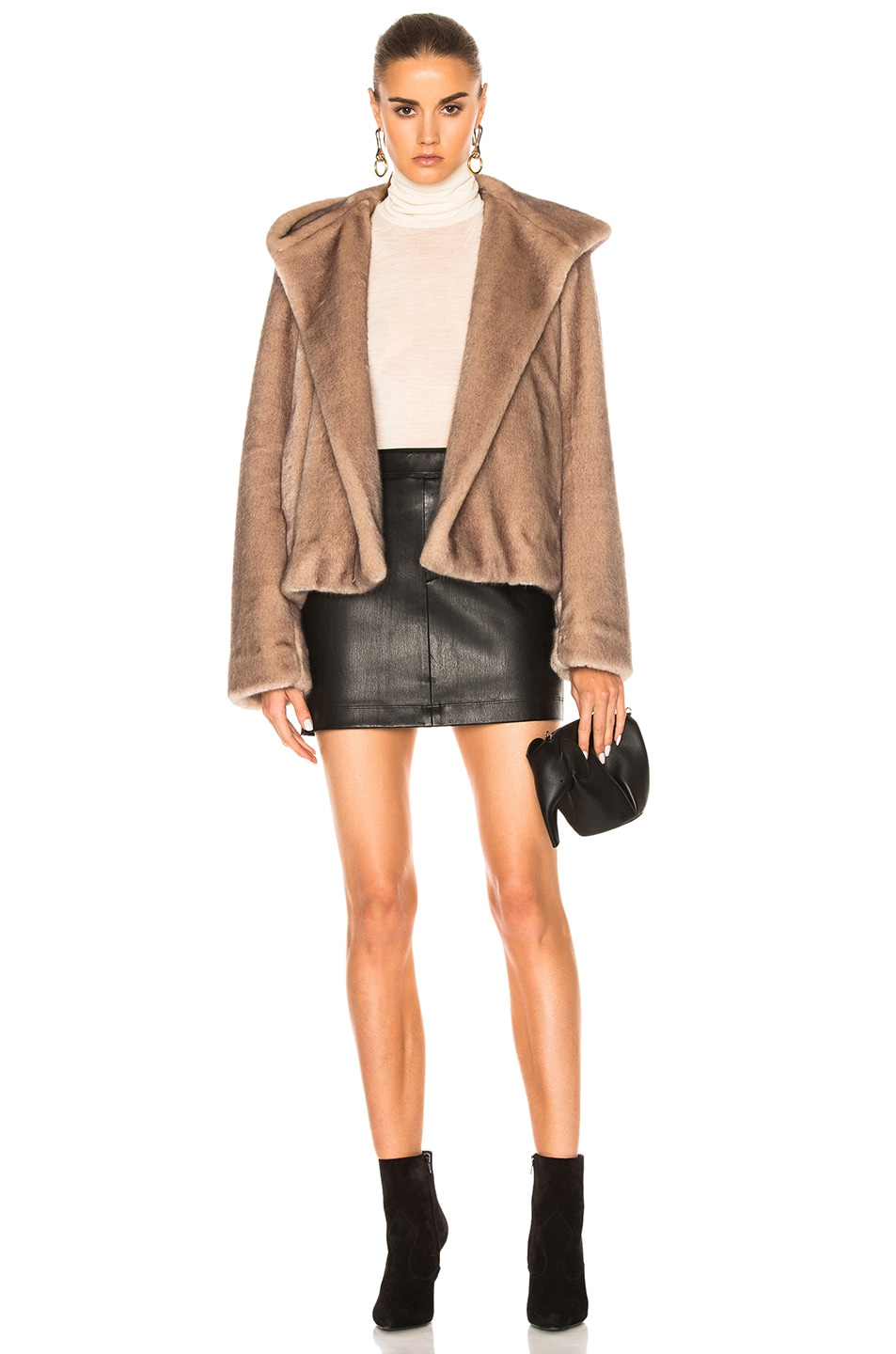 Image 5 of Helmut Lang Leather Skirt in Black