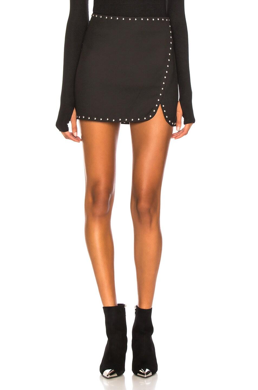 Image 1 of Helmut Lang Studded Mini Skirt in Black
