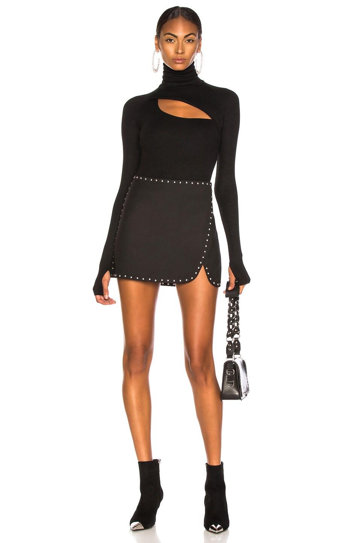 Image 5 of Helmut Lang Studded Mini Skirt in Black