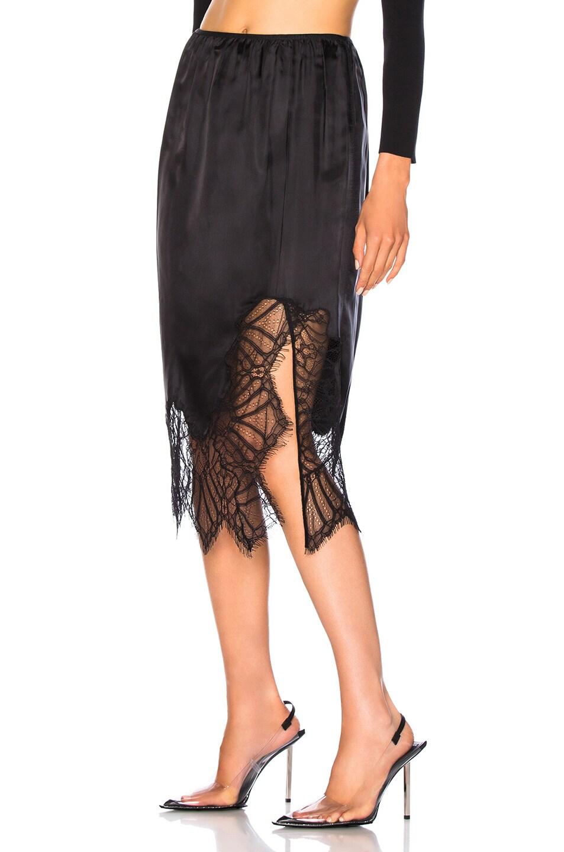 Image 3 of Helmut Lang Lace Slip Skirt in Black