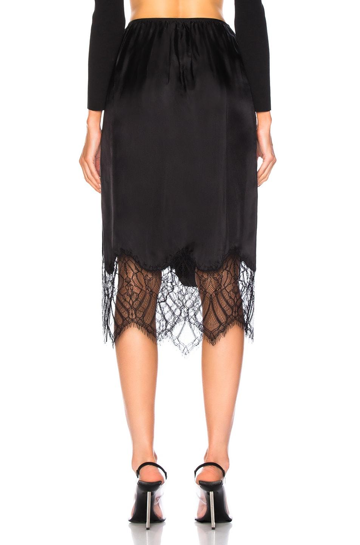 Image 4 of Helmut Lang Lace Slip Skirt in Black