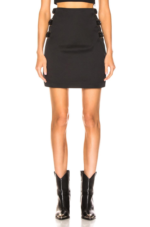 Image 2 of Helmut Lang Buckled Skirt in Black