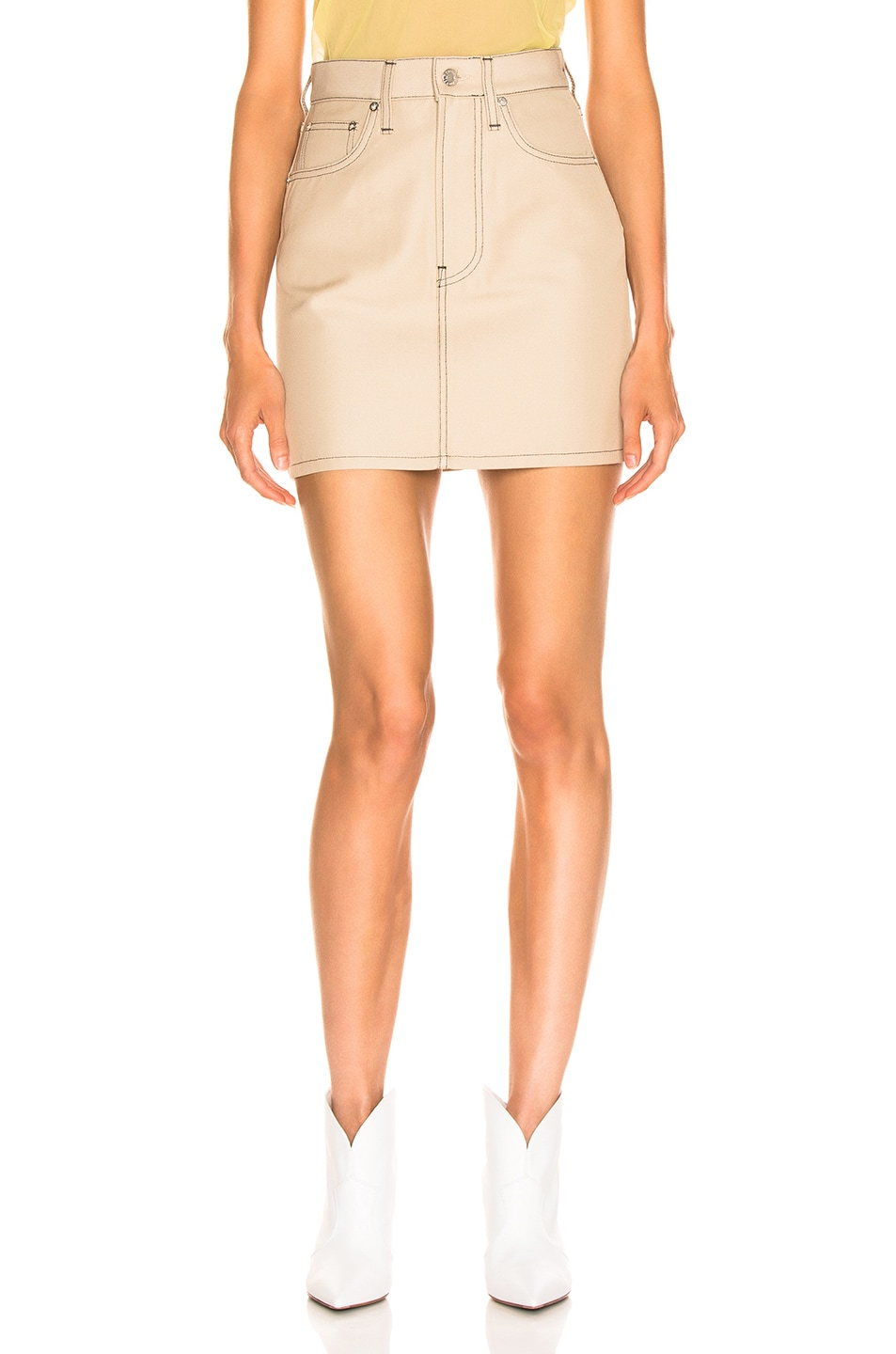 Image 1 of Helmut Lang Femme Mini Skirt in Tufa