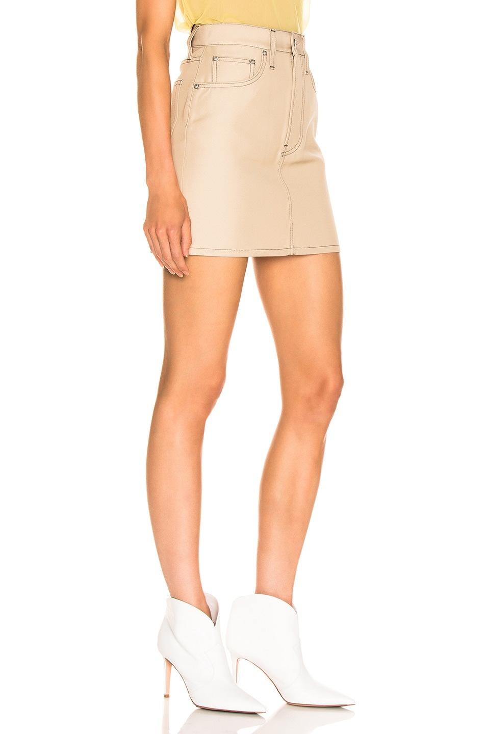 Image 2 of Helmut Lang Femme Mini Skirt in Tufa