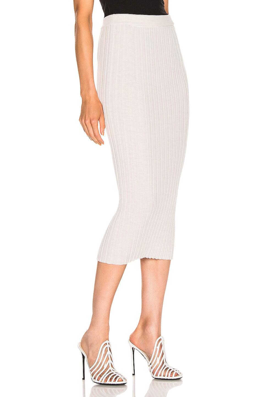 Image 2 of Helmut Lang Double Waistband Skirt in Ivory Melange