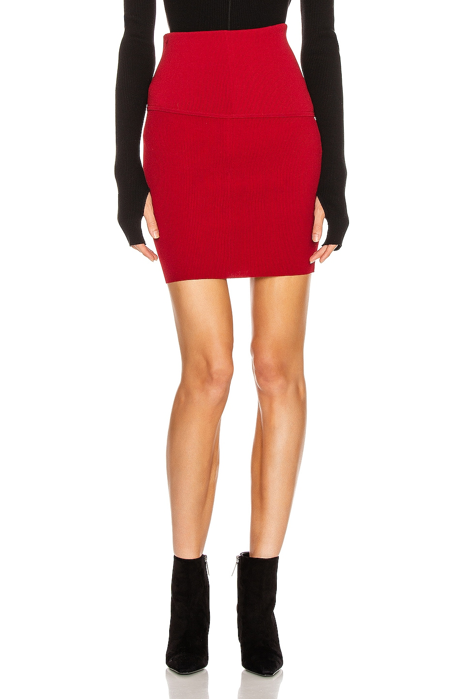 Image 1 of Helmut Lang Stretch Skirt in Lava