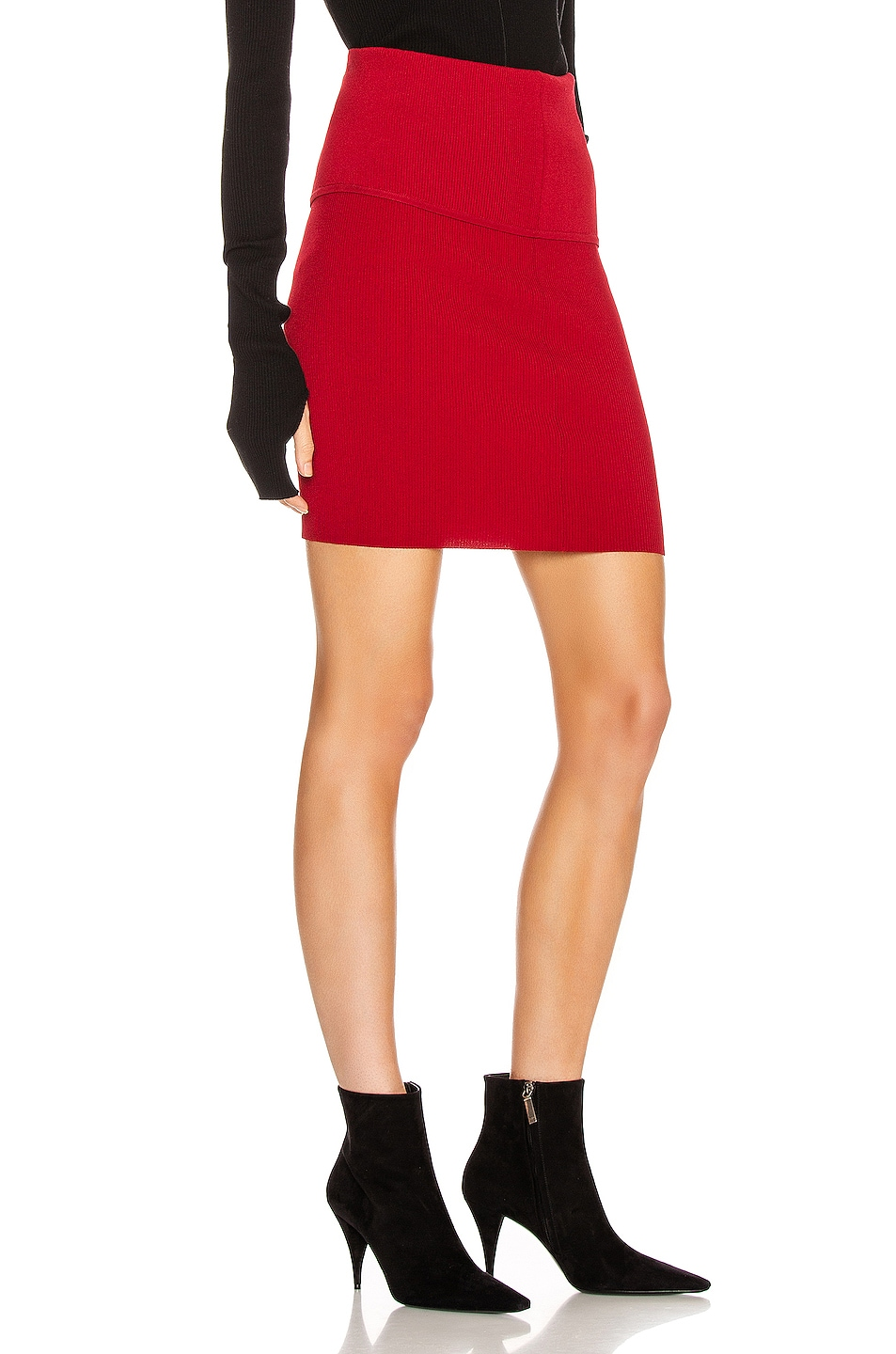 Image 2 of Helmut Lang Stretch Skirt in Lava