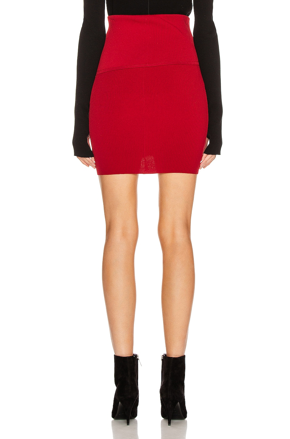 Image 3 of Helmut Lang Stretch Skirt in Lava