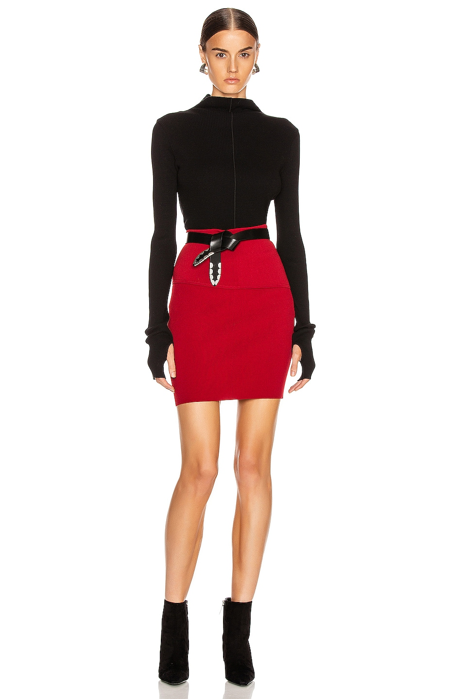 Image 4 of Helmut Lang Stretch Skirt in Lava