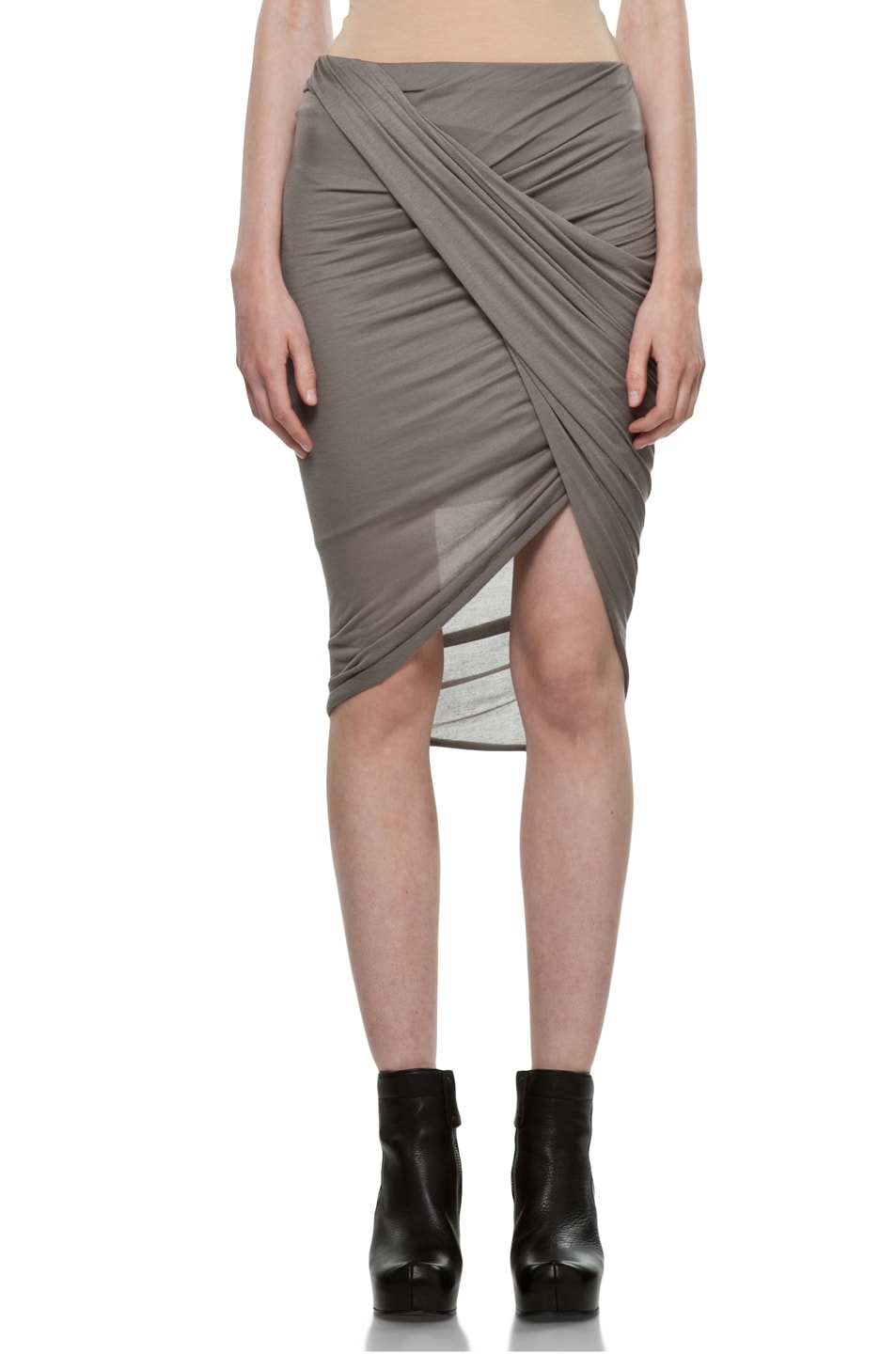 Image 1 of Helmut Lang Front Wrap Skirt in Warm Bronze