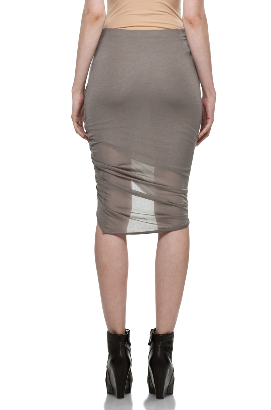 Image 4 of Helmut Lang Front Wrap Skirt in Warm Bronze
