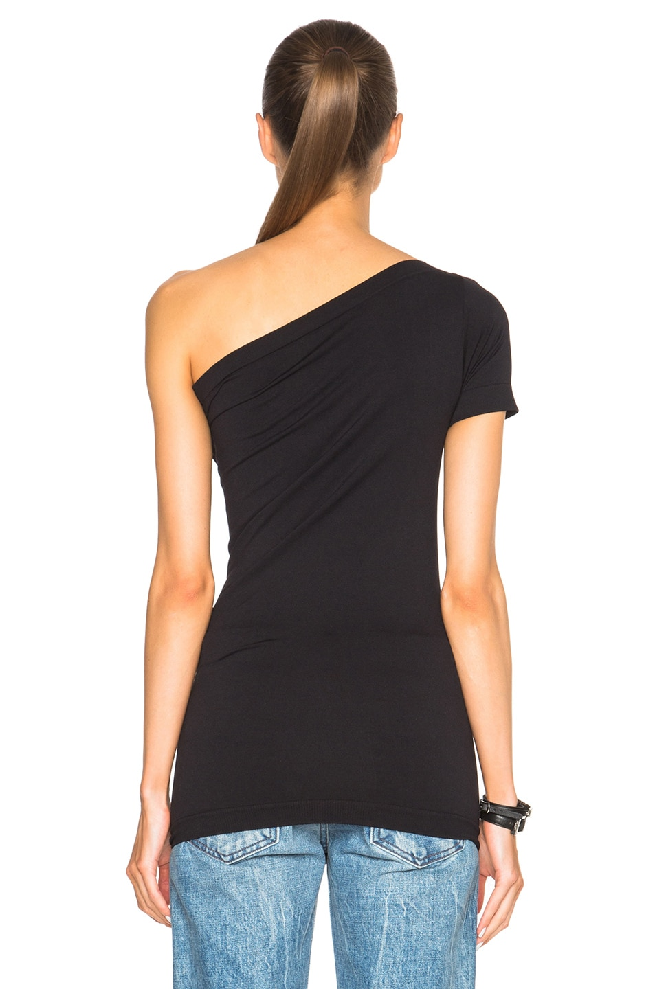 Image 4 of Helmut Lang Asymmetrical Tee in Black