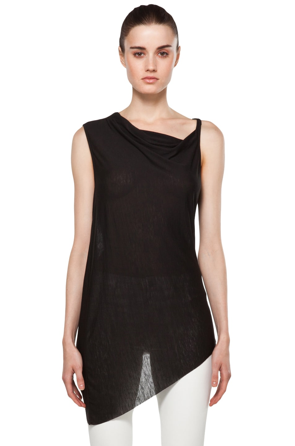 Image 1 of Helmut Lang Twist Back Top in Black