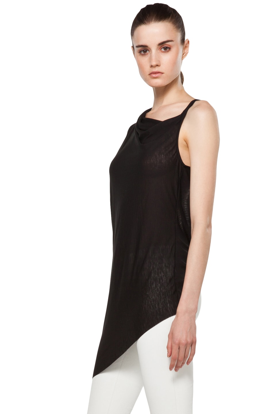 Image 2 of Helmut Lang Twist Back Top in Black