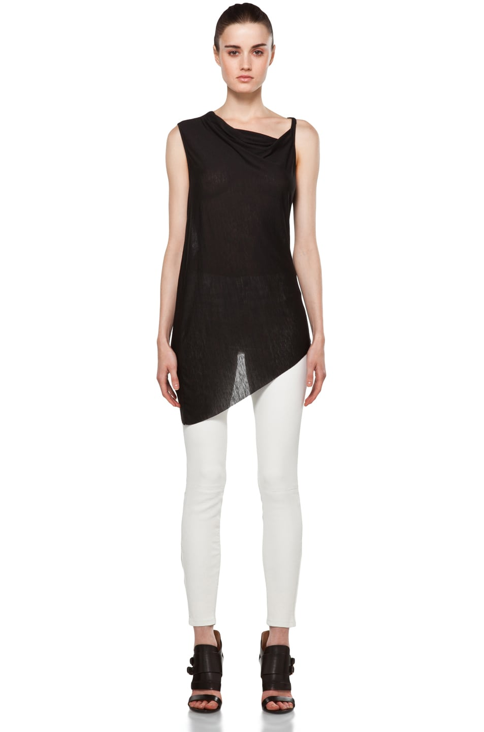 Image 5 of Helmut Lang Twist Back Top in Black