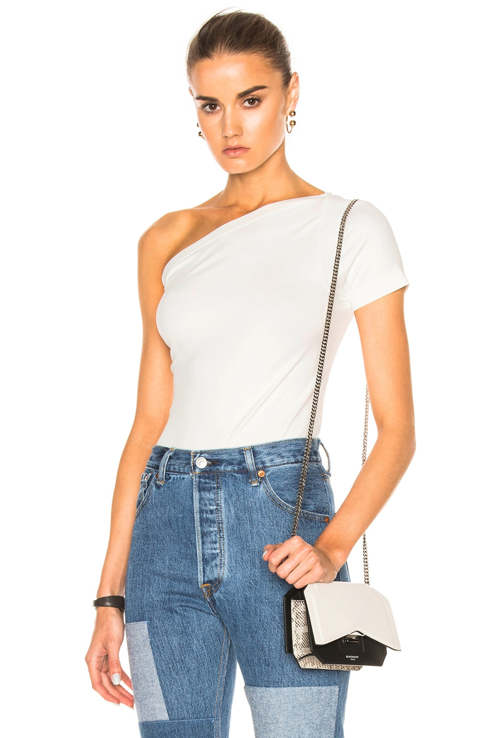 Image 1 of Helmut Lang Asymmetrical Tee in White