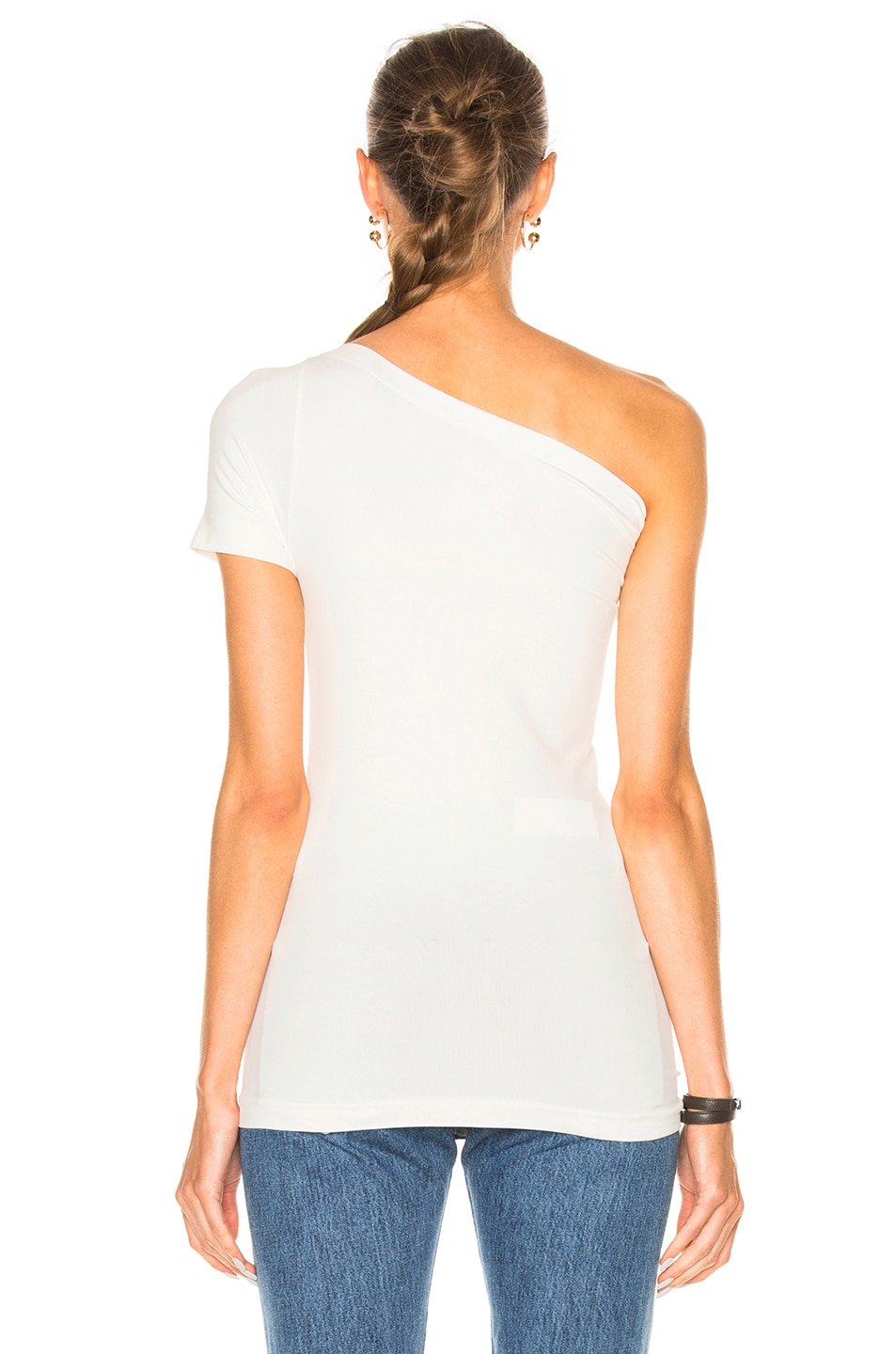Image 4 of Helmut Lang Asymmetrical Tee in White
