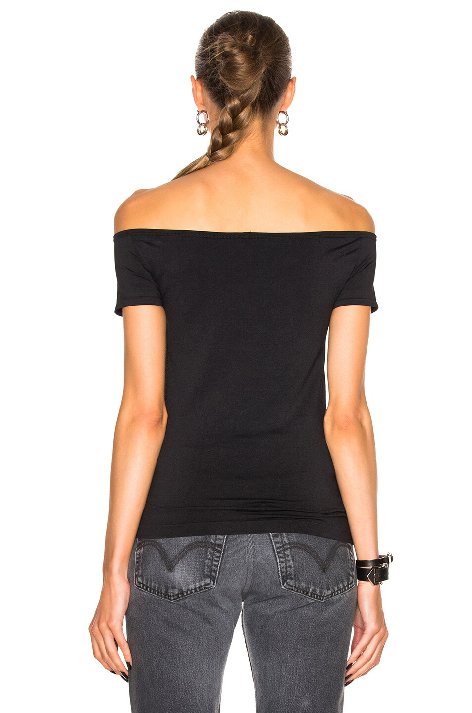 Image 4 of Helmut Lang Open Boat Neck Top in Black