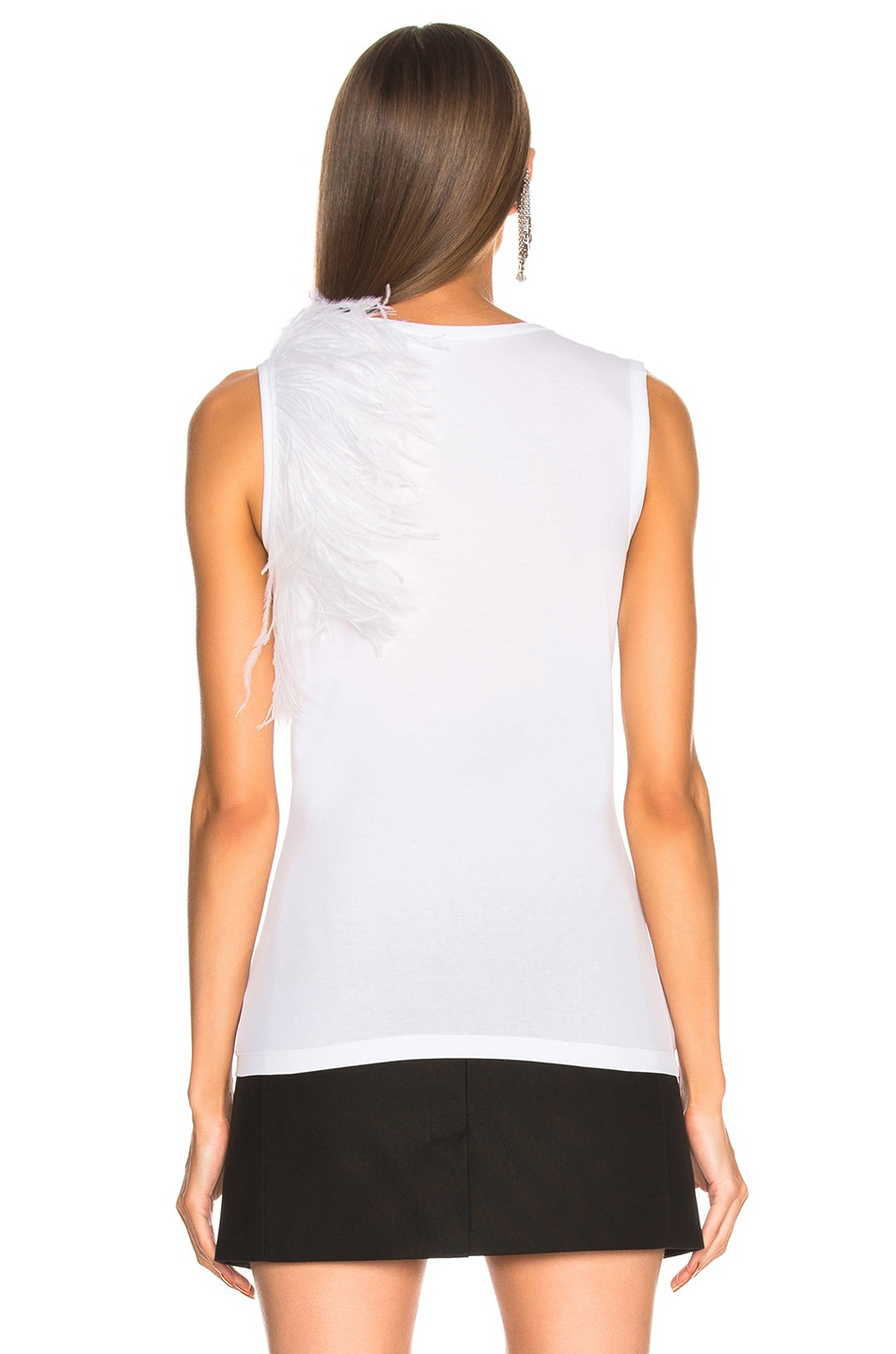 Image 4 of Helmut Lang Feather Tank Top in White