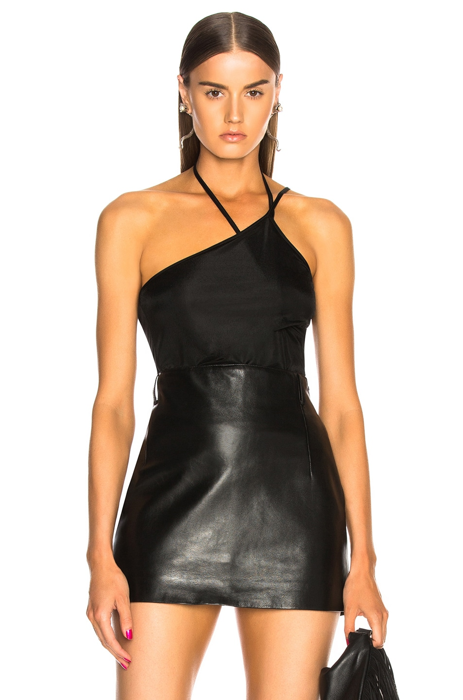 Image 1 of Helmut Lang x Shayne Oliver Pulled Tank Top in Black