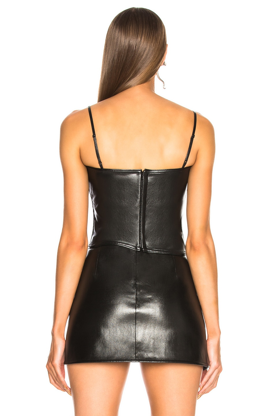 Image 4 of Helmut Lang Leather Corset Top in Black