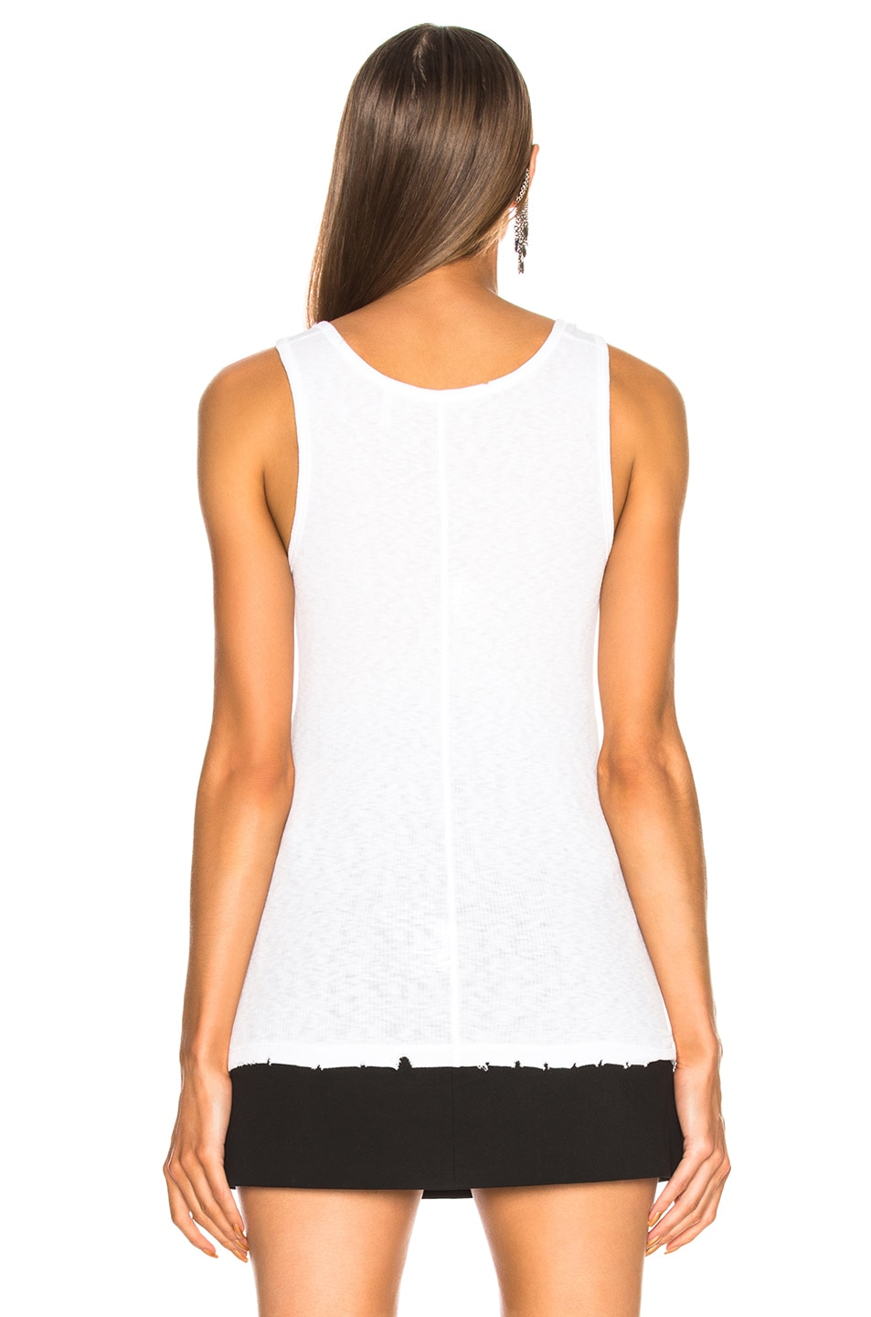 Image 4 of Helmut Lang Chewed Up Tank Top in White