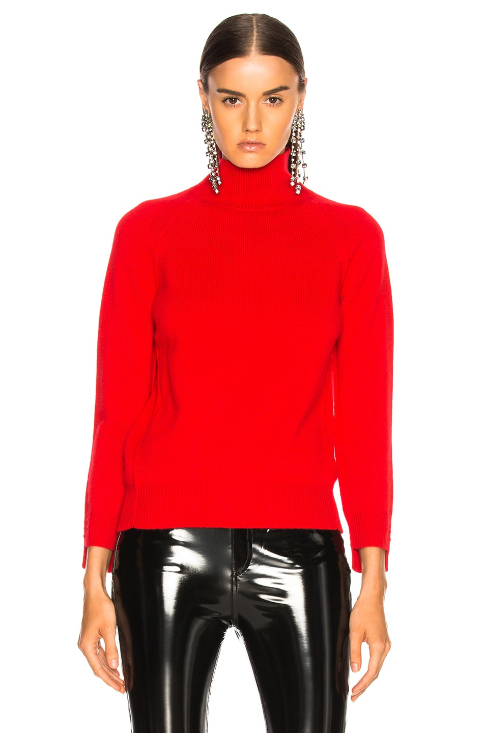 Image 2 of Helmut Lang Cashmere Turtleneck Sweater in Siren