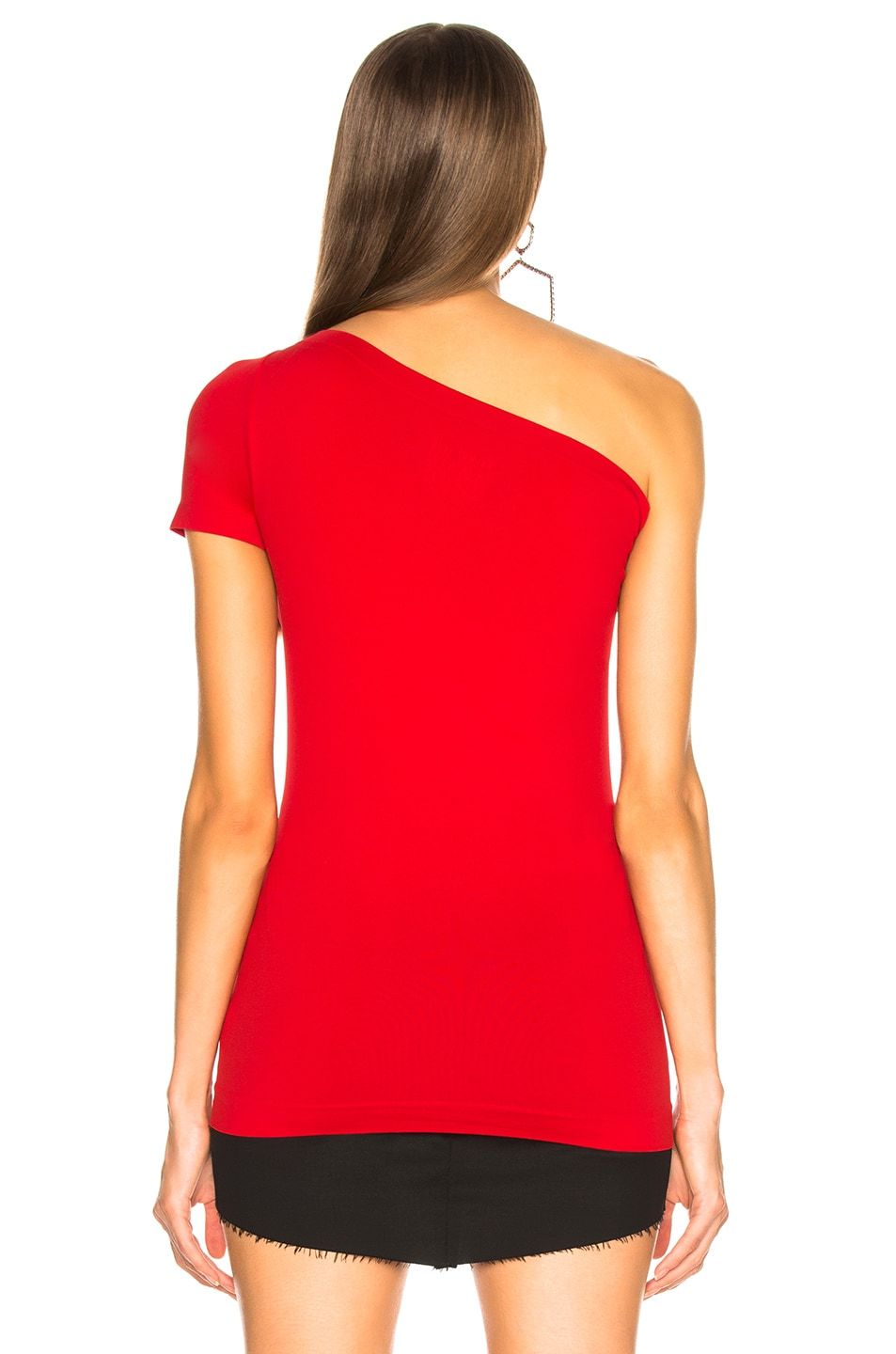 Image 5 of Helmut Lang Asymmetric Tube Tank Top in Scarlet
