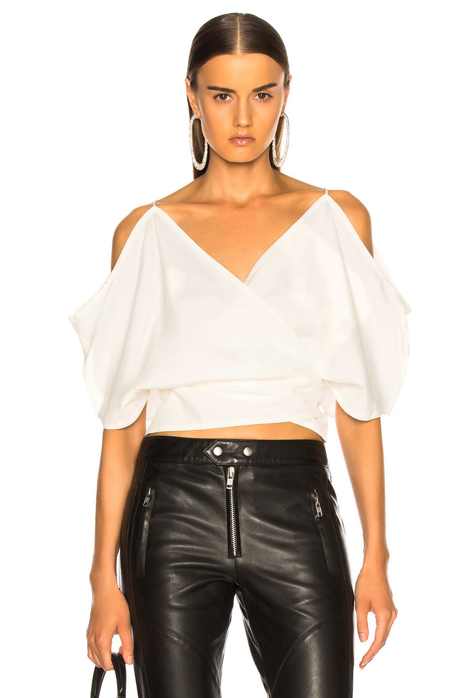 Image 1 of Helmut Lang Wrap Top in Natural White