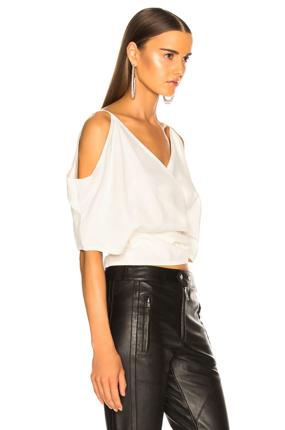 Image 2 of Helmut Lang Wrap Top in Natural White