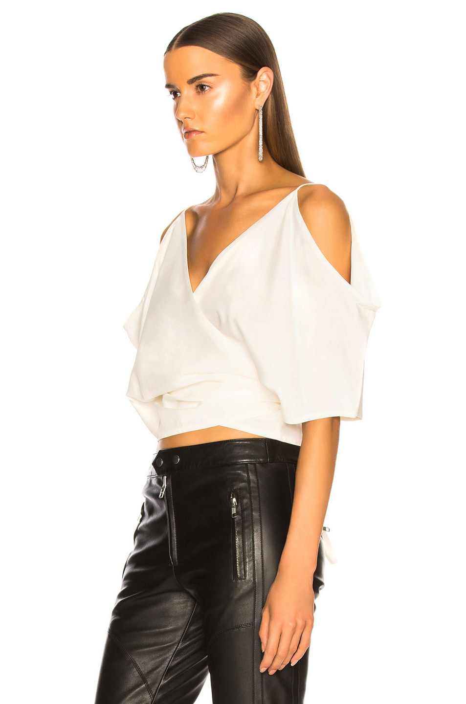 Image 3 of Helmut Lang Wrap Top in Natural White