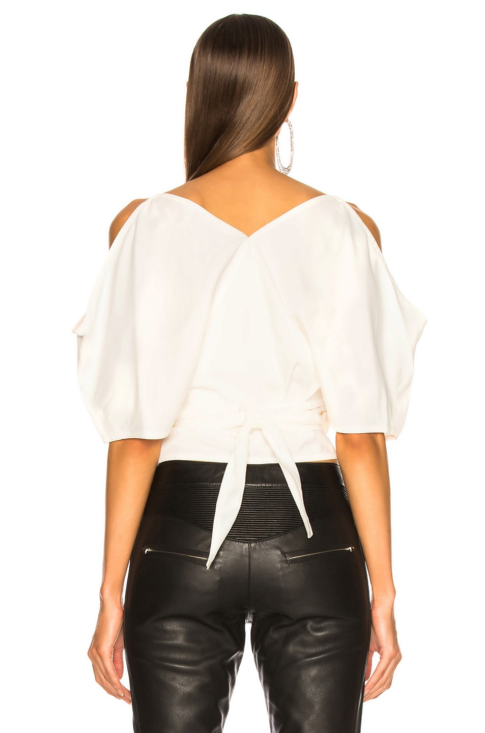 Image 4 of Helmut Lang Wrap Top in Natural White