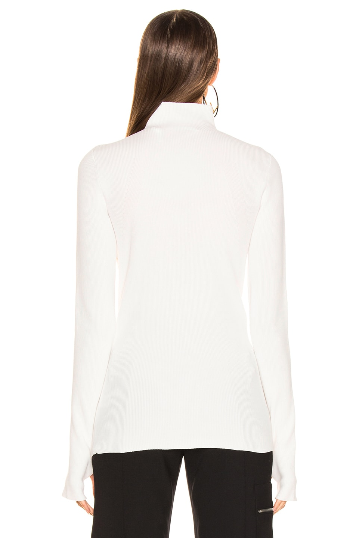 Image 3 of Helmut Lang Long Sleeve Mockneck in Natural White