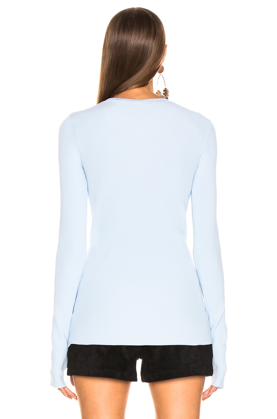 Image 3 of Helmut Lang Long Sleeve Crew Neck in Light Wave