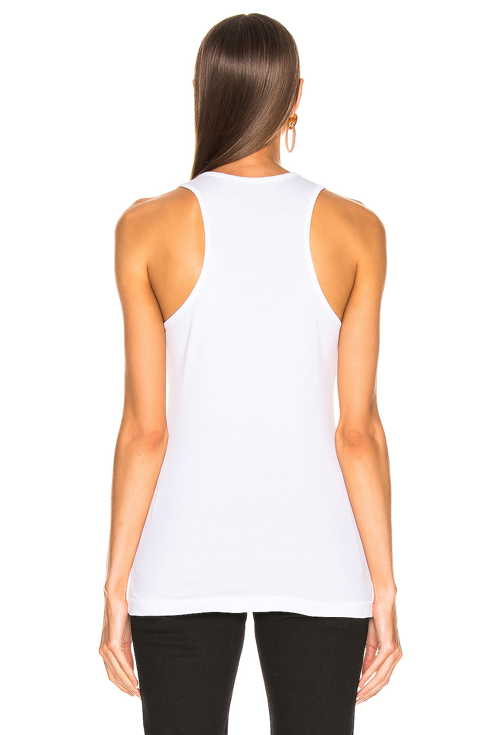 Image 3 of Helmut Lang Stacked Logo Tank Top in Chalk White