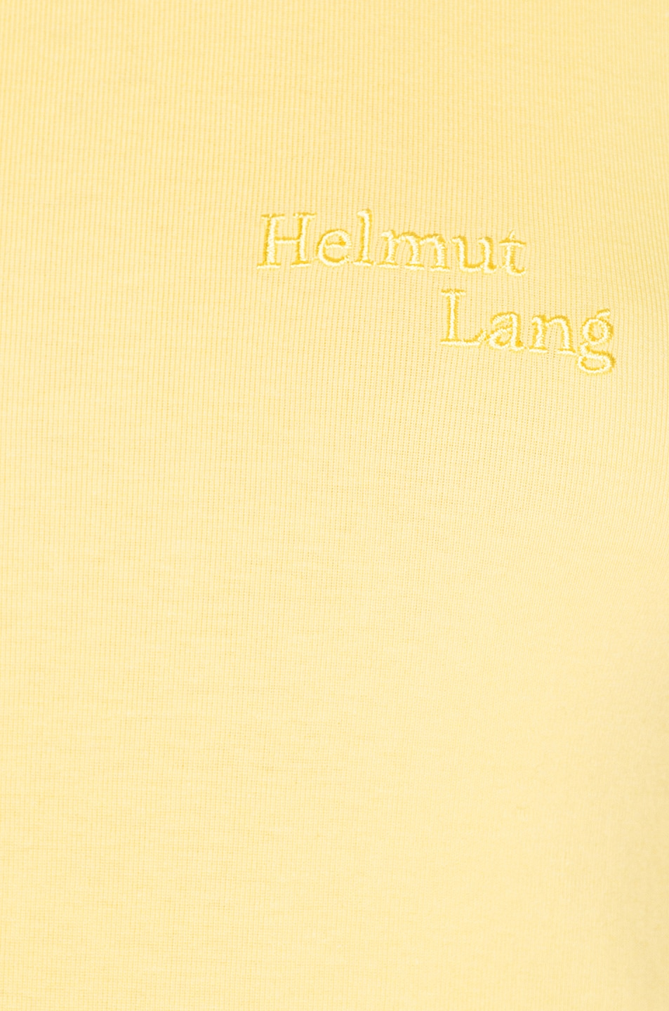 Image 5 of Helmut Lang Stacked Logo Tank Top in Citric Yellow