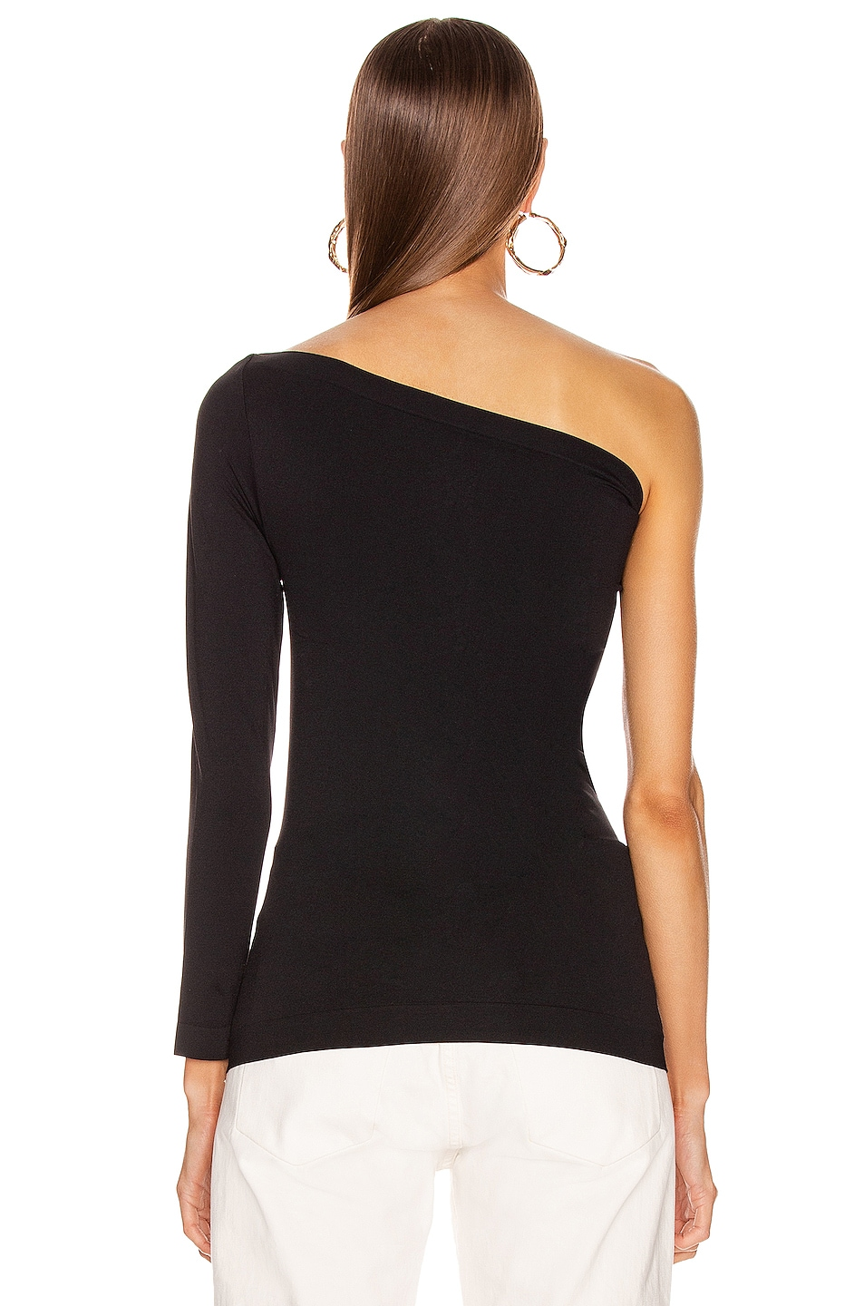 Image 4 of Helmut Lang One Shoulder Tee in Black
