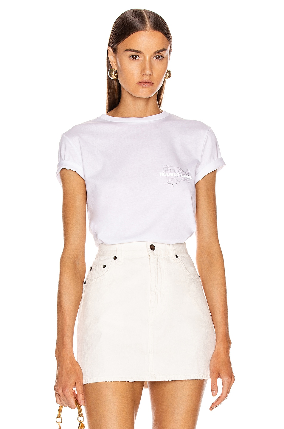 Image 1 of Helmut Lang Laws T Shirt in Chalk White