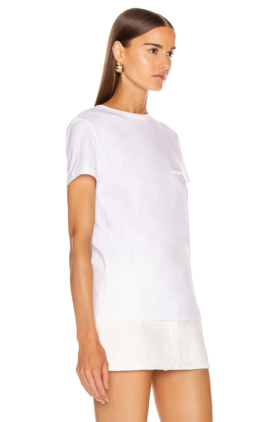 Image 2 of Helmut Lang Laws T Shirt in Chalk White