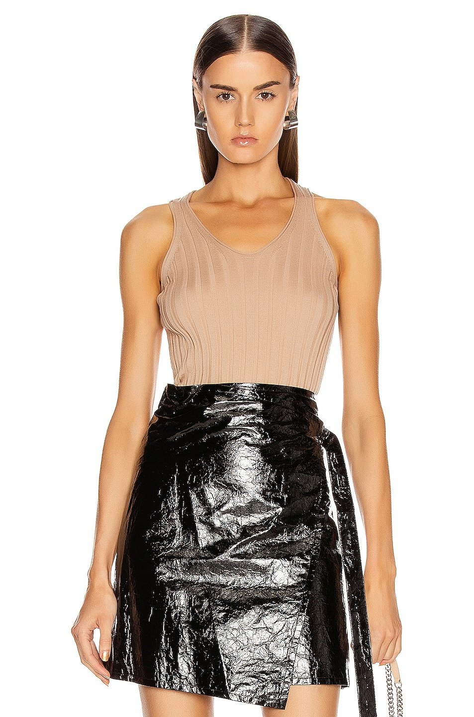 Image 1 of Helmut Lang Rib Tank Top in Bare