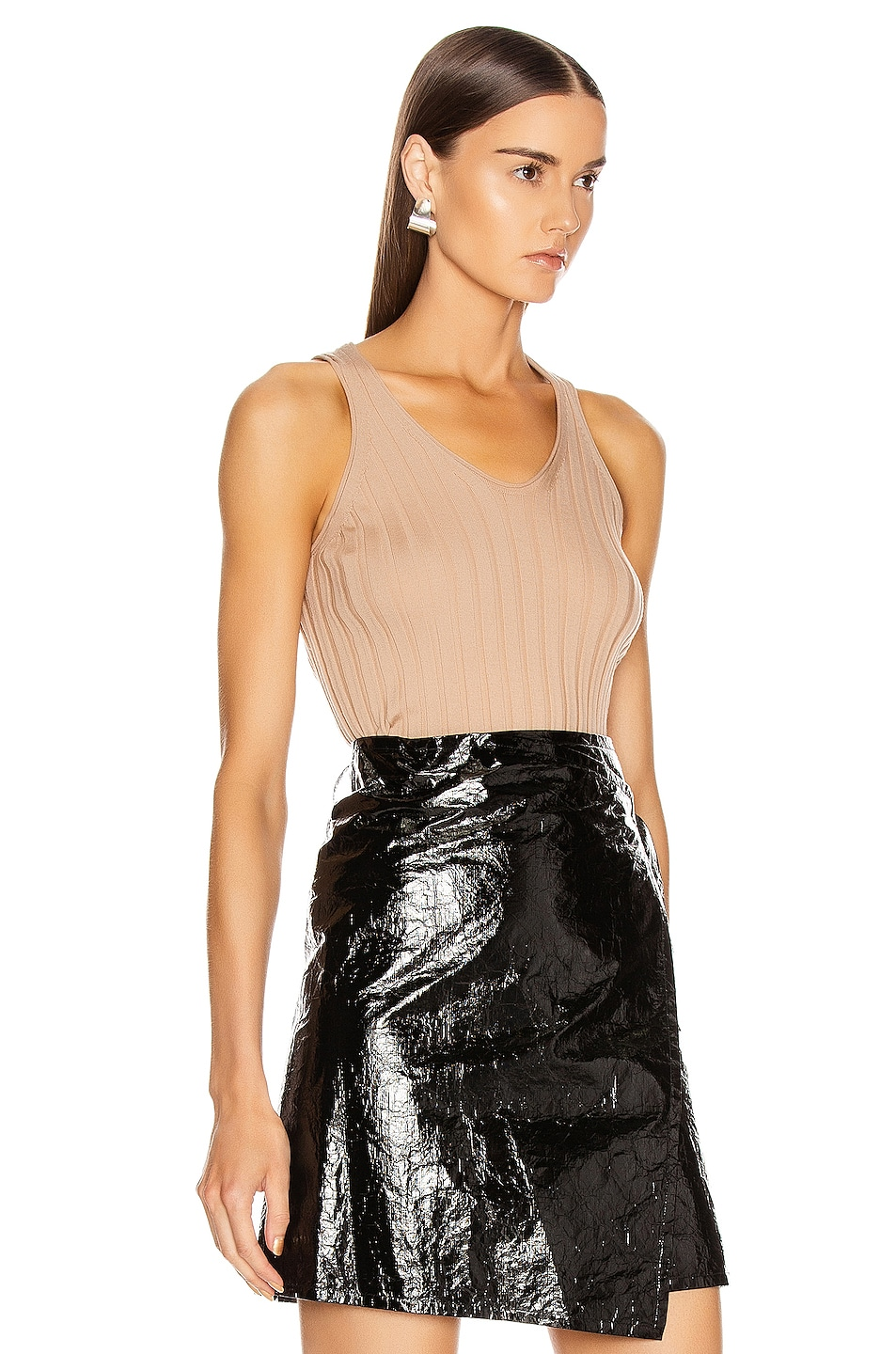Image 2 of Helmut Lang Rib Tank Top in Bare