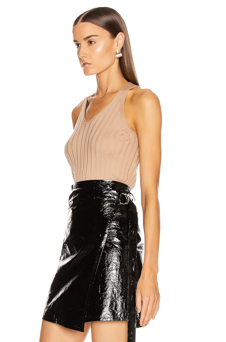 Image 3 of Helmut Lang Rib Tank Top in Bare
