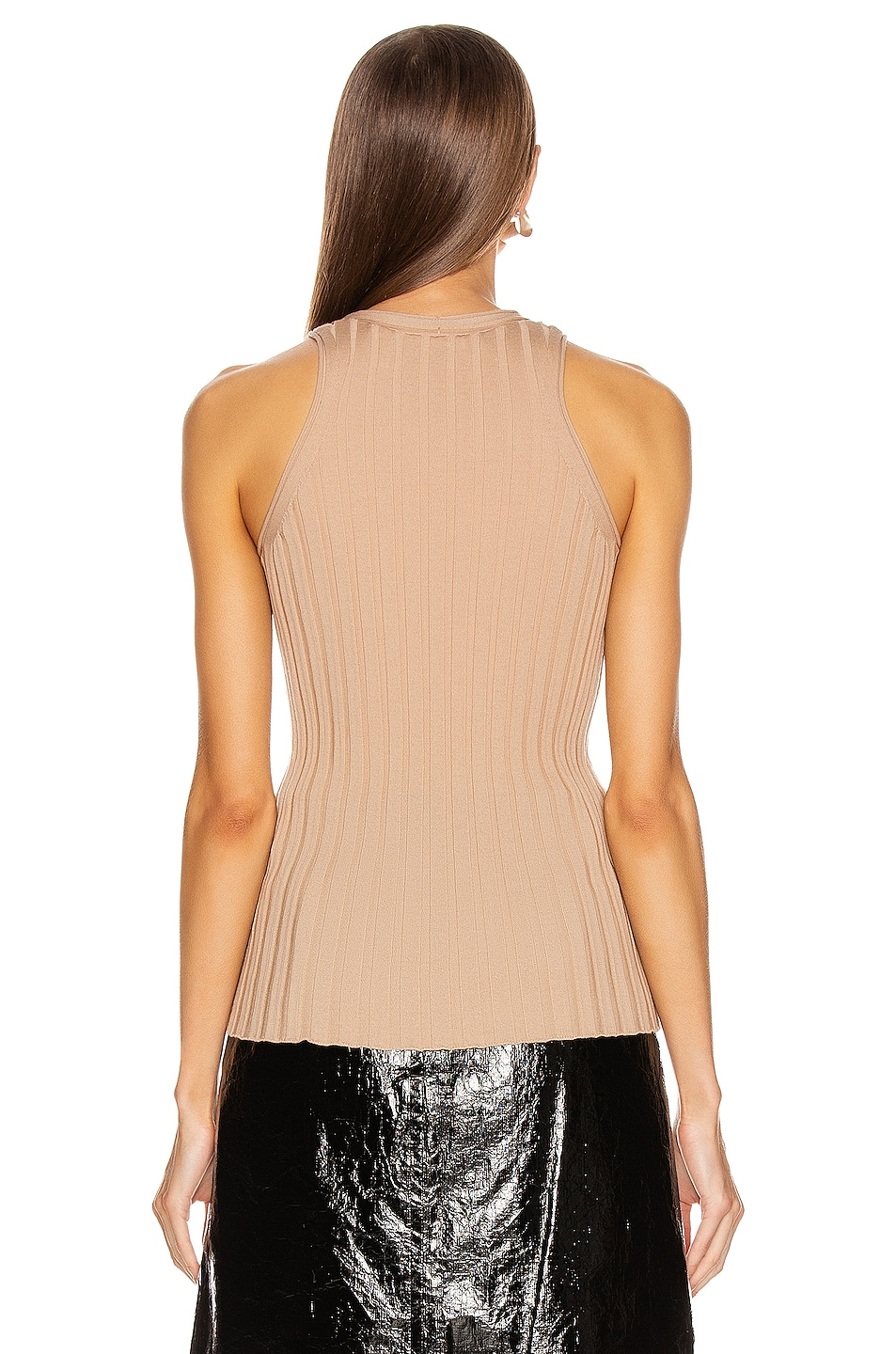 Image 4 of Helmut Lang Rib Tank Top in Bare