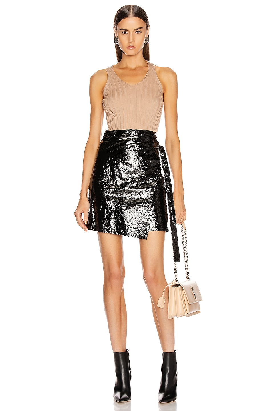 Image 5 of Helmut Lang Rib Tank Top in Bare