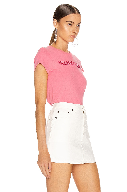 Image 2 of Helmut Lang Standard Baby Tee in Prism Pink